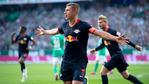 Bremen, Deutschland 21.09.2019: 1. Bundesliga - 2019/2020 - SV Werder Bremen vs. RB Leipzig Willi Urban (Leipzig) jubel