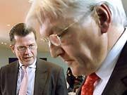 Karl-Theodor zu Guttenberg, Frank-Walter Steinmeier, CSU, SPD, Arcandor, dpa