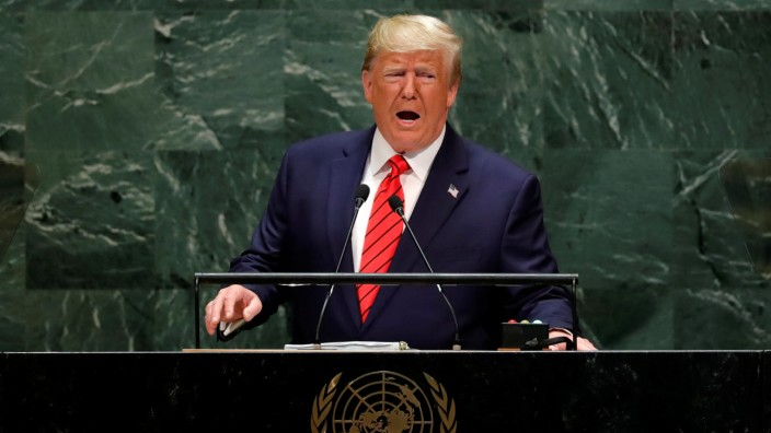 U.S. President Donald Trump addresses the 74th session of the United Nations General Assembly at U.N. headquarters in New York City, New York, U.S.