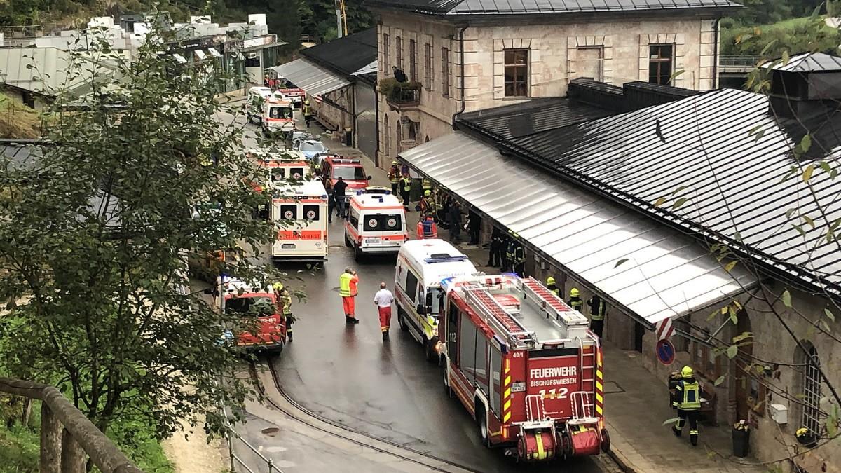 Explosion in Salzbergwerk Berchtesgaden: Fünf Verletzte