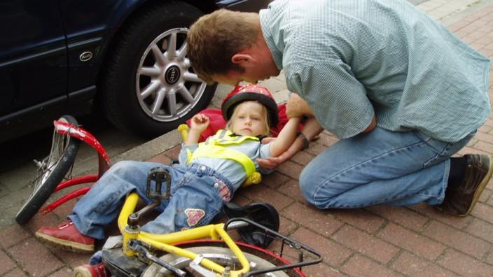 Radunfall eines Kindes, Erste Hilfe