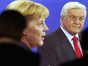 TV-Duell: Merkel vs. Steinmeier, AP
