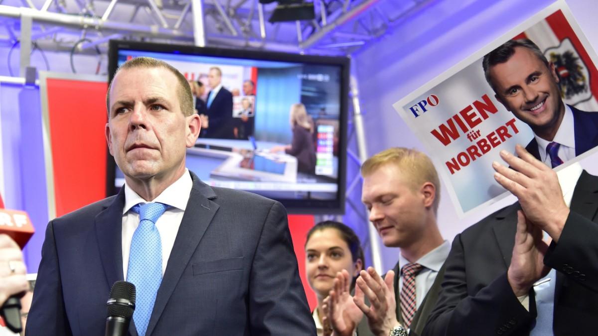 FPÖ am Wahlabend: Erhebliche Verluste