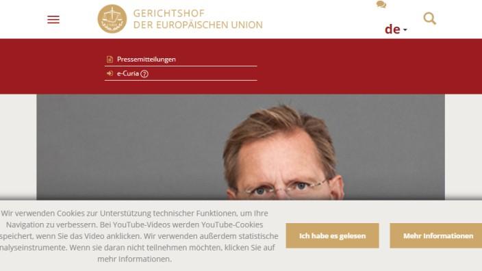 EuGH-Webseite