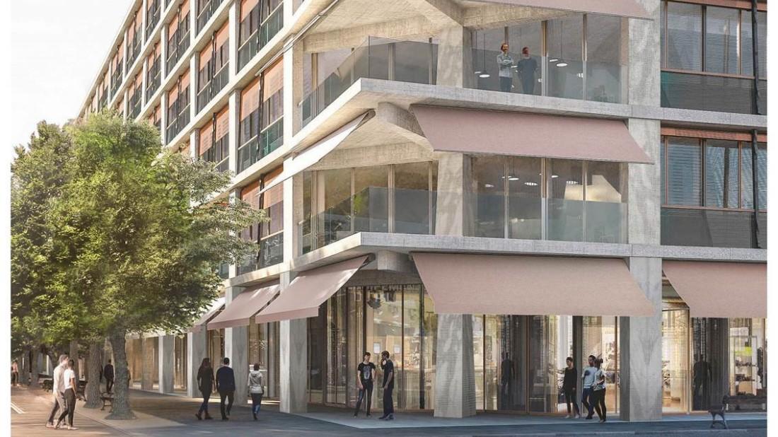Neues Quartier im Bahnhofsviertel: Bürolandschaft mit Indoor-Wald