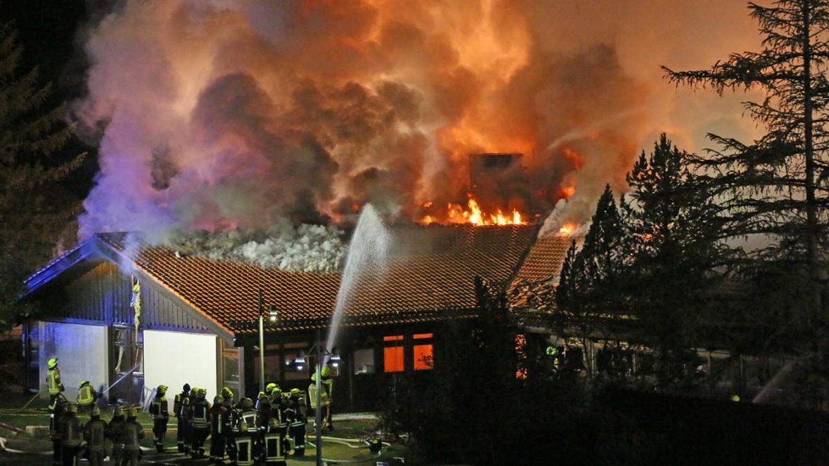 Berchtesgaden - Großbrand an Schule