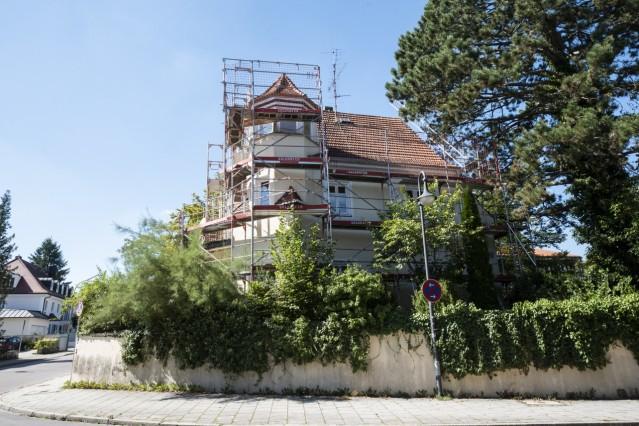 Pullach, alte Villa in der Habenschadenstraße wird renoviert, zum Tag des offenen Denkmals,