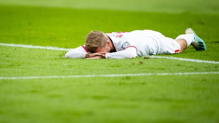 Sport Bilder des Tages Leverkusen, 05.10.2019 Timo Werner (RBL) enttäuscht Bayer Leverkusen - RB Leipzig *** Leverkusen,