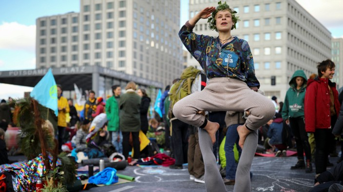 Extinction Rebellion protest in Berlin