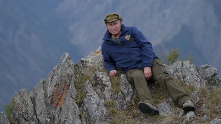 Russian President Vladimir Putin is seen during his holiday in the Siberian taiga