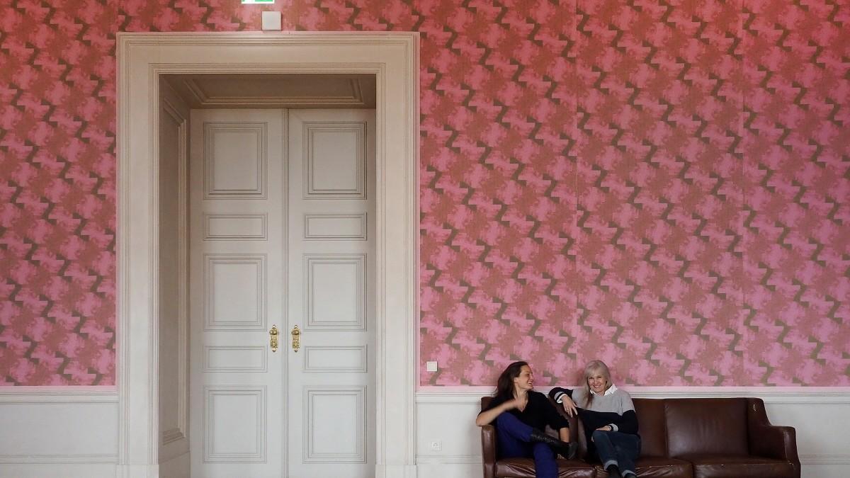 Die Residenz wird rosa