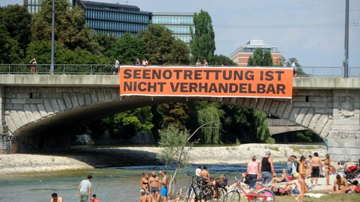 Protestaktion in München für die Seenotrettung von Flüchtlingen, 2018