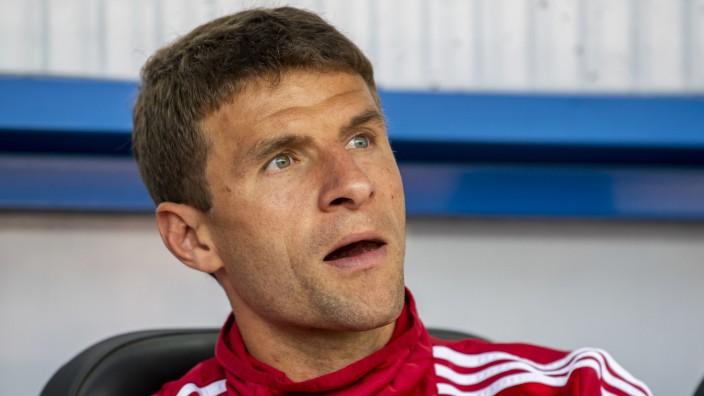Thomas Müller beim Spiel FC Bayern gegen SC Paderborn
