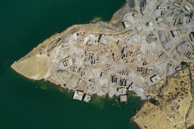 The Ancient City Of Hasankeyf Is Flooded By A Dam To Make A Reservoir For Hydroelectric Power