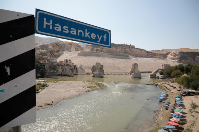A view of Hasankeyf, which will be significantly submerged by the Ilisu Dam, by the Tigris River in the southeastern town of Hasankeyf