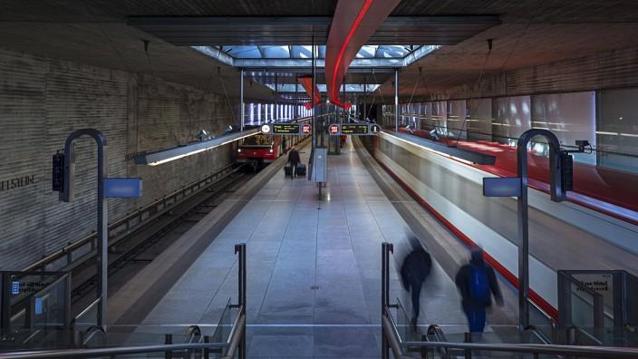 U Bahnstation Ziegelstein Nürnberg Mittelfranken Bayern Deutschland Europa *** Underground Stat
