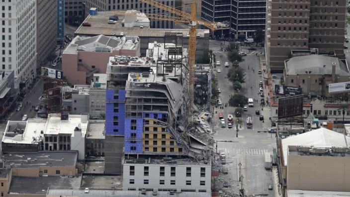 Geplantes Hotel in New Orleans eingestürzt