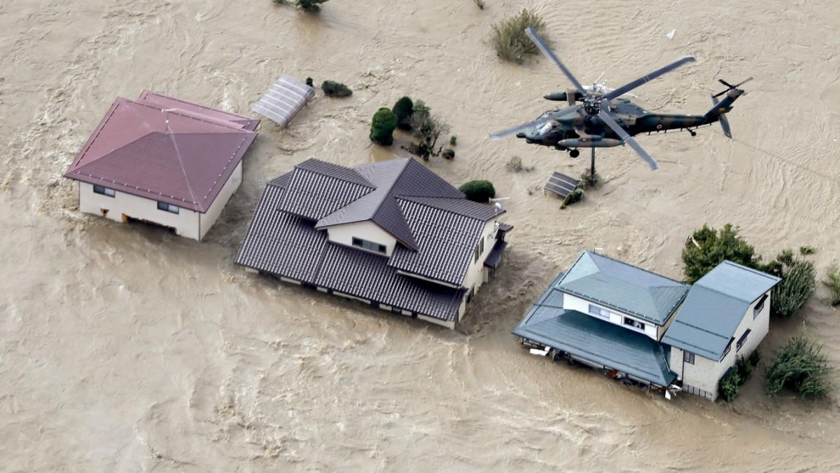 Taifun in Japan: Über 50 Menschen kommen ums Leben