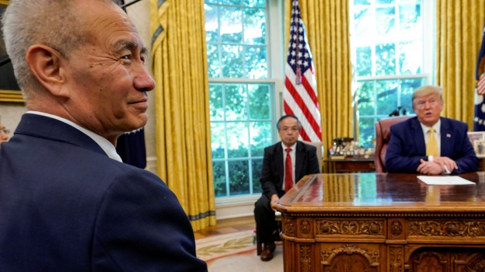 U.S. President Trump meets with China's Vice Premier Liu at the White House in Washington