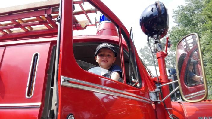 Siebenjähriger bewirbt sich bei Feuerwehr München
