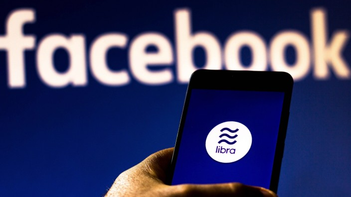 August 20, 2019, Brazil: In this photo illustration the Facebook Libra logo is seen displayed on a smartphone. Brazil P