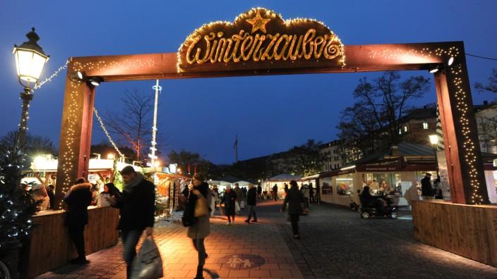 """""""Winterzauber"""" auf dem Viktualienmarkt in München, 2018"""