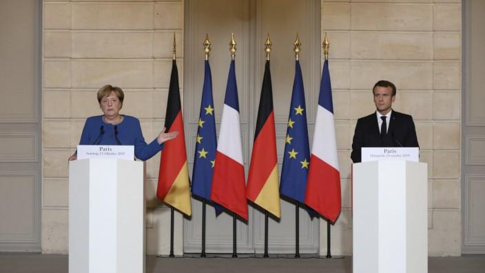 Bundeskanzlerin Merkel trifft Präsidenten Macron