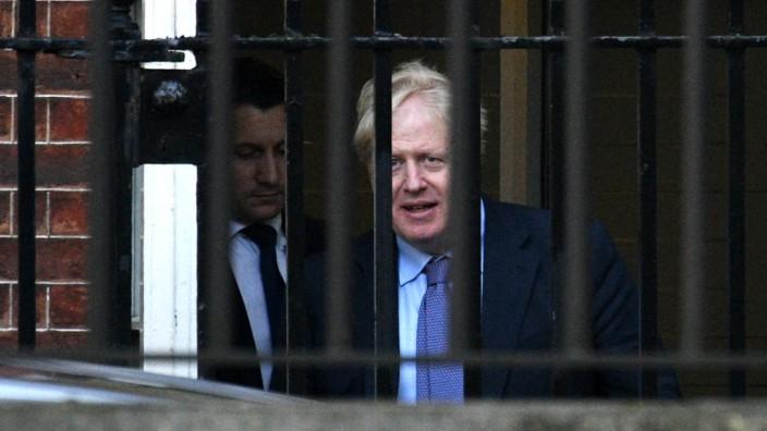 Boris Johnson Leaves Downing Street To Travel To Brussels