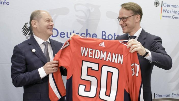 Bilder des Tages Bundesfinanzminister Olaf Scholz SPD nimmt in Washington an der IWF Fruehjahrstag