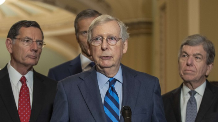 Senators Attend Policy Luncheons At U.S. Capitol