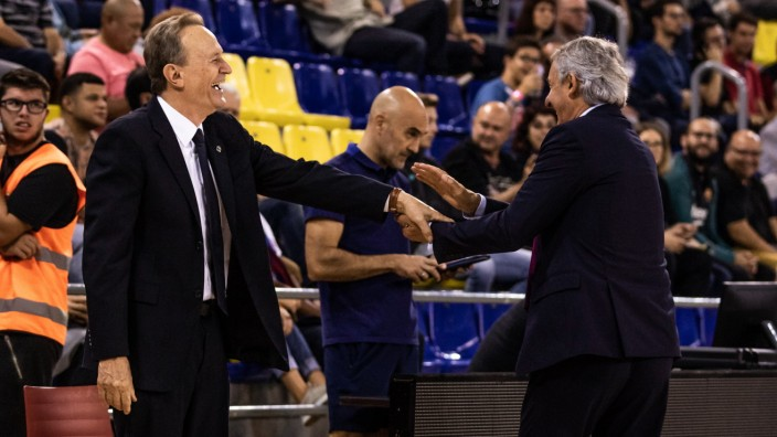 Sport Bilder des Tages October 18, 2019, Barcelona, Barcelona, Spain: Aito Garcia Reneses, Head coach of Alba Berlin and