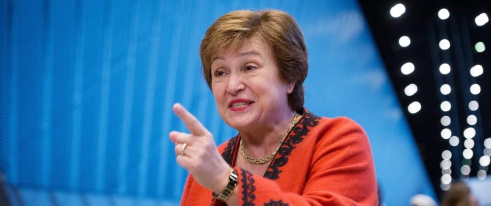 December 3, 2018 - Katawice, Silesia, Poland - Kristalina Georgiewa (chief executive officer of the World Bank) during