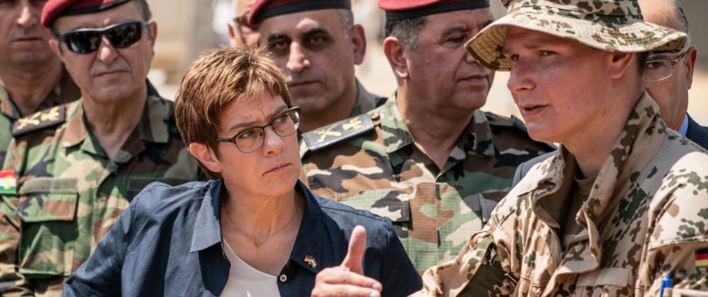 Annegret Kramp-Karrenbauer im Irak