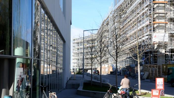 """Fortschritte im neuen Stadtquartier """"Baumkirchen-Mitte"""", 2019"""