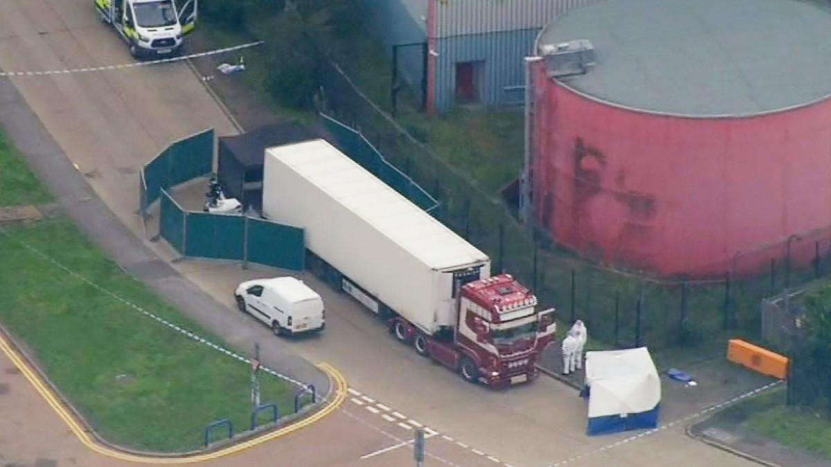 39 Leichen in Lkw in Essex entdeckt