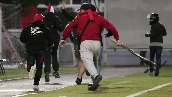 Hooligan-Randale bei Youth-League-Spiel in Piräus
