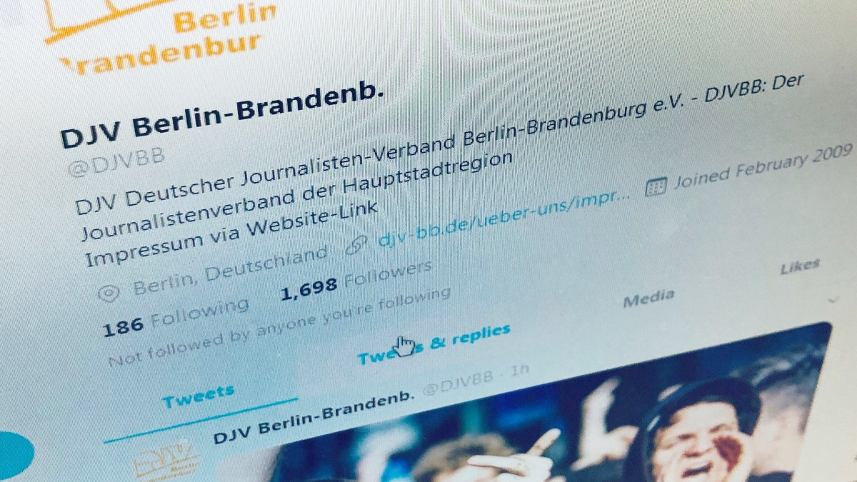 Deutscher Journalistenverband: Streit auf Twitter