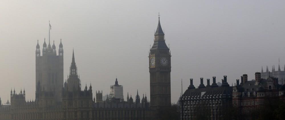 London Big Ben Herbst Nebel