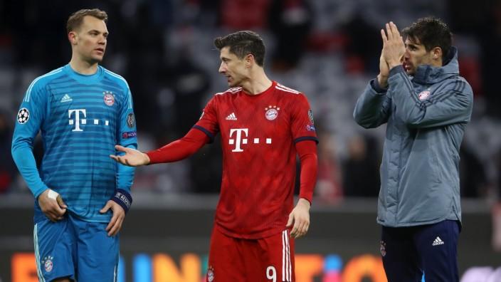 FC Bayern Muenchen v Liverpool - UEFA Champions League Round of 16: Second Leg; Neuer Martinez Lewandowski