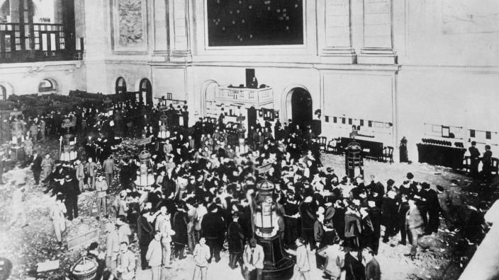Anlager in der Börse in New York, 1929