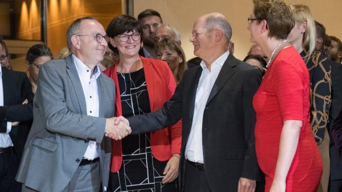 Ergebnis des SPD-Mitgliedervotums zum Parteivorsitz