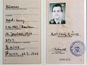 SED-Mitgliedsausweis des Westberliner Polizeibeamten Karl Heinz Kurras, AP