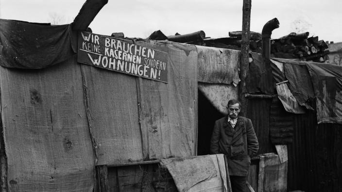 Protest gegen Wohnungsnot in München, 1952