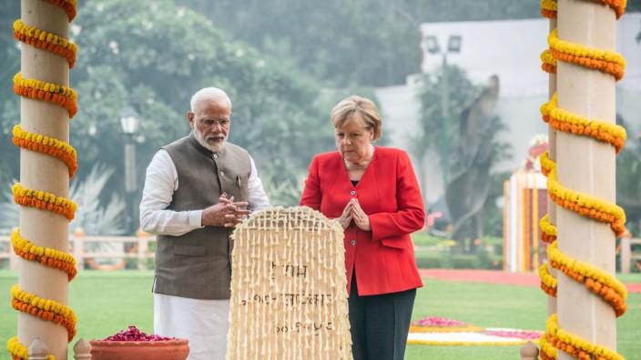 Kanzlerin Merkel in Indien