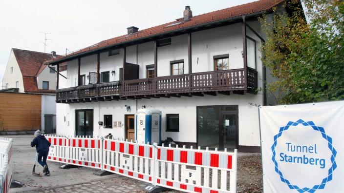 Häuser müssen für den Tunnel weichen; Der Starnberger Tunnelbau beginnt