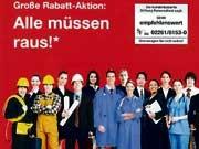 Zeitarbeit: Umstrittene Werbung Der Mensch als WareS&F Personal Dienstleistungen Plakat
