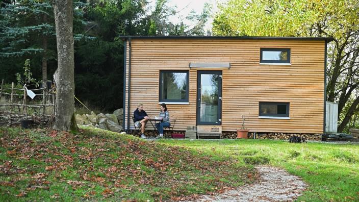 Tiny House in Mehlmeisel im Fichtelgebirge.