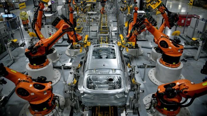 BMW-Fabrik in Greer (USA): Roboter bei der SUV-Fertigung