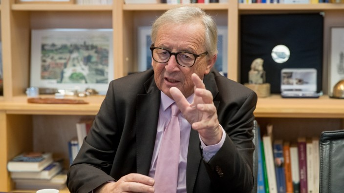 European commission President Jean-Claude Juncker  during an interview with Sueddeutsche Zeitung