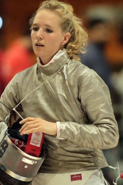 16 06 2018 Novi Sad Serbia FIE European senior fencing championship women s sabre Lea Krüger KRUEG; Lea Krüger